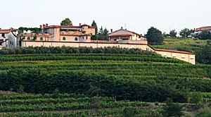Sede da Vinícola Movia em Brda, na divisa da Eslovênia com a Itália.