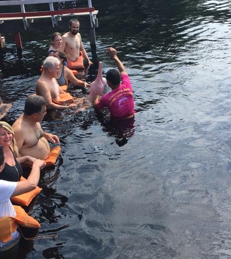 Nadando com os botos