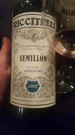Riccitelli Semillon 2017