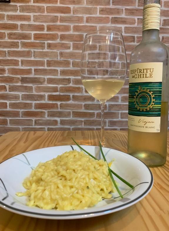 Risoto de limão siciliano com vinho branco