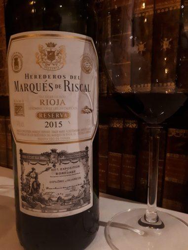 Marques de Riscal Reserva 2015